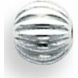 Sterling Silver 6.0mm Corrugated Round Beads 2.0mm Hole - Pa