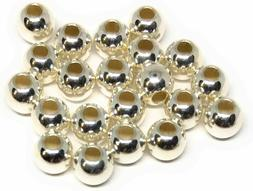 sterling silver 925 4mm round beads seamless