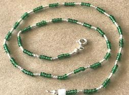"Sterling Silver .925 Necklace/Choker 16""~ Sterling Silver/Gr"