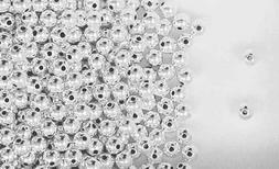 Seamless Round Beads for Jewelry Making Sterling Silver 4mm