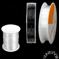 STRETCH CORD BEADING JEWELRY MAKING ELASTIC CORD CHOOSE 0.5m