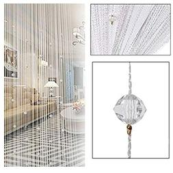 String Door Curtain Beads Room Divider Tassel Crystal Fringe