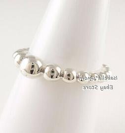 STRING OF BEADS Authentic PANDORA Silver Ring 197536 Sz 7  N