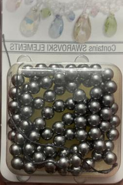 Swarovski Pearls Grey Round beads Size4 MM Lot#47 DISCOUNTED