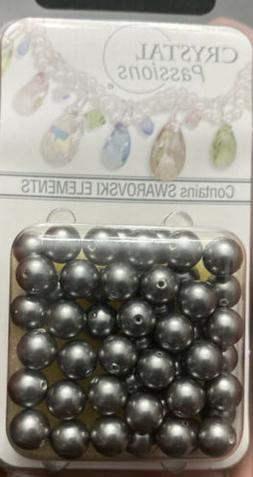 Swarovski Pearls Grey Round beads Size6 MM Lot#48 DISCOUNTED
