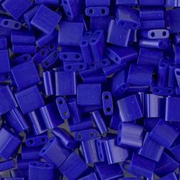 Miyuki Tila 2 Hole Square Beads 5mm 'Opaque Cobalt' 7.2 Gram