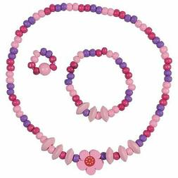 SMITCO Toddler Jewelry for Girls - Kids Wooden, Beaded Toy N