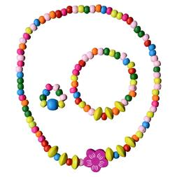 Toddler Play Jewelry - Stretch Necklace, Ring and Bracelet S