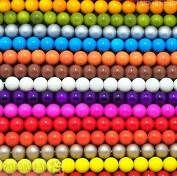 Top Czech Opaque Coated Glass Pearl Round Beads 4mm 6mm 8mm