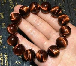 Top Natural Red Tiger Eye Gemstone Round Beads Women Men Bra