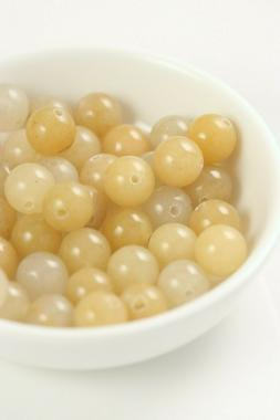 Topaz Jade 8mm Round Gemstone Bulk Loose Beads Hole 1mm ~45