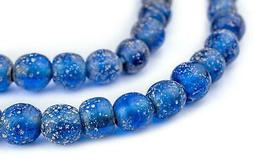 Translucent Blue Ancient Style Java Glass Beads 9mm Indonesi