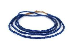 Translucent Blue Kenya Seed Beads 4mm African Glass 25 Inch