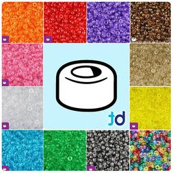 BeadTin Transparent 6.5mm Mini Barrel Pony Beads  - Color ch