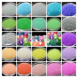 Transparent Fairy Micro Beads, 21 Different Colors  10g Bag,