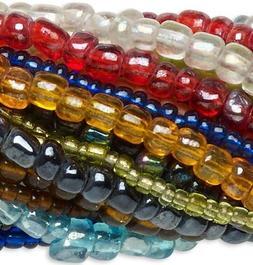 "Twenty 14"" Strands Assorted Glass Seed Bead Mix Approximatel"
