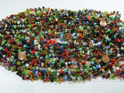 Two Pounds India Handmade Multicolor Glass Beads Wholesale B