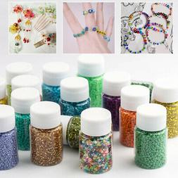 US 3000PCS/Bottle 2MM Small Glass Beads For Necklace DIY Bra