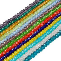 US 6/8mm 50Pcs Spacer Loose Beads Crystal Glass DIY Jewelry