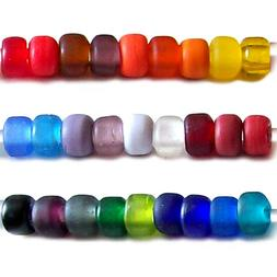 USA | Matte CROW glass beads 8-9mm MIXED large hole 3mm U PI