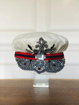 Victorian Hat Redesign With Beads Embroidery Crystals Coutre