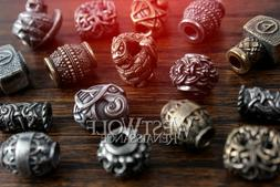 Viking Jewelry / Beard Beads - Silver & Gold -- Norse/Thor/H