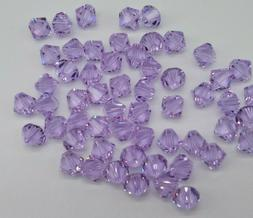 Swarovski Crystal Violet Bicone 5328 Beads; 4mm  or 6mm ; Lt