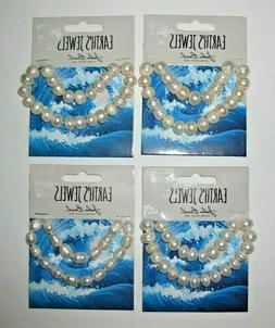 White Freshwater Pearls by John Bead Earth's Jewels Semi Rou