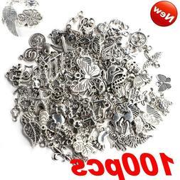 Wholesale 100pcs Bulk Tibetan Silver Charms Pendants beads C