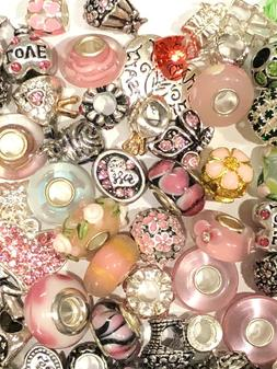Wholesale 20 pieces Bulk Lots Mixed Dangle Charms Beads Fit