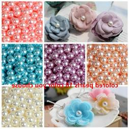 Wholesale 2mm-14mm No Hole ABS Pearl Round Acrylic Beads DIY