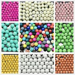 Wholesale 4mm 6mm 8mm 10mm Round Glass Pearl Spacer Loose Be