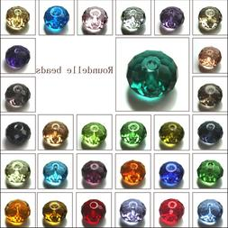 Wholesale Crystal Glass Rondelle Faceted Loose Spacer Beads