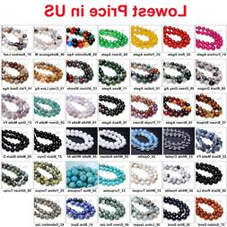 Wholesale Lot Natural Gemstone Round Spacer Loose Beads 4mm