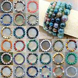 Wholesale Natural Gemstone Beads Stretch Bracelet Healing Re