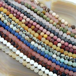 wholesale natural matte gemstone round spacer loose