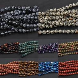 Natural Gemstone Round Spacer Loose Beads 4mm 6mm 8mm 10mm 1