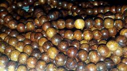 Wood Beads 9mm for Malas LOT OF 10 STRANDS  Free US Shipping