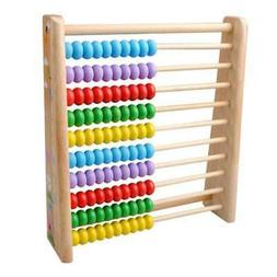Wooden Abacus 100 Beads Counting Number Preschool Kid Learns