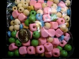 Wooden beads 100s of various sizes and colors great with alp