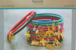 Bead Design Wrapp Bangle Bracelet Kit with Charms - Makes 12
